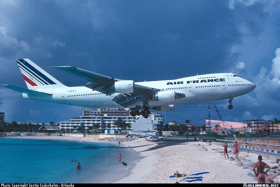 St. Maarten- Maho Beach. Amazing, as long as you don't get ...